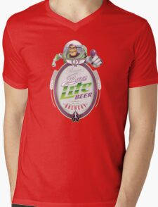 Buzz Lite Beer Mens V-Neck T-Shirt