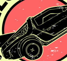 Delorean Express Sticker