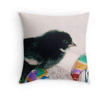 black chick Throw Pillow