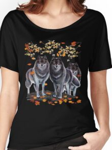 Wolves In Fall Women's Relaxed Fit T-Shirt