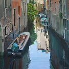 Quiet reflections, Venice by Freda Surgenor
