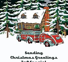 Daughter In Law To Be Sending Christmas Greetings Card by Gear4Gearheads