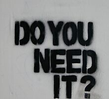 Do you need it by jimf66