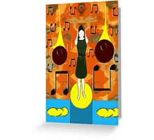 HEAVENLY MUSIC IN MY HEAD Greeting Card