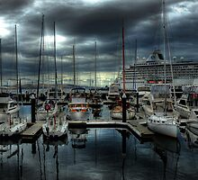 Hobart in ships by John Adulcikas