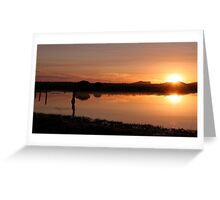 Zoutpan Sunrise Greeting Card