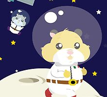 Hamster in the space by elenapugger