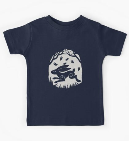 Leaping Hare in Autumn Kids Tee