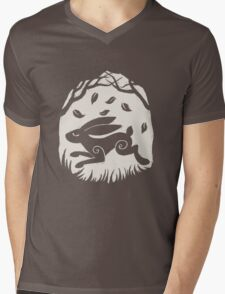 Leaping Hare in Autumn Mens V-Neck T-Shirt