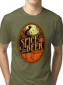 Spice Beer Label Tri-blend T-Shirt