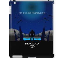 Minimalist Halo 3 Poster iPad Case/Skin