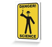 Danger! Science Greeting Card