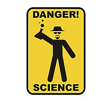 Danger! Science Photographic Print