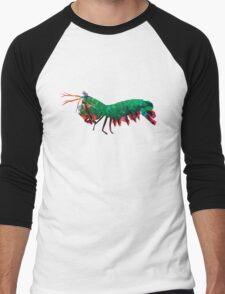 Geometric Abstract Peacock Mantis Shrimp Men's Baseball ¾ T-Shirt