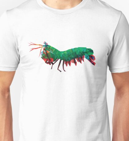 Geometric Abstract Peacock Mantis Shrimp Unisex T-Shirt