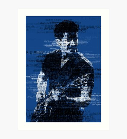Alex Turner Typography (Blue) Art Print