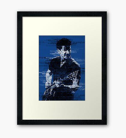 Alex Turner Typography (Blue) Framed Print