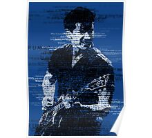 Alex Turner Typography (Blue) Poster