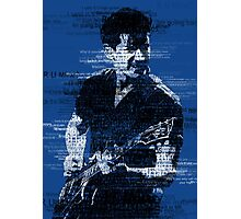 Alex Turner Typography (Blue) Photographic Print