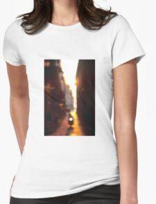 Sunlit Sidestreet  Womens Fitted T-Shirt