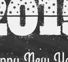 2015 on chalk board Sticker