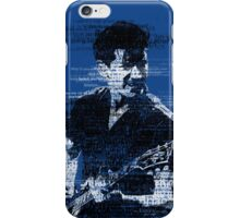 Alex Turner Typography (Blue) iPhone Case/Skin