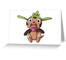Chespin Pokemon Greeting Card