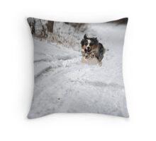 Flying Girl Throw Pillow