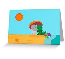 Day at the beach ! Greeting Card