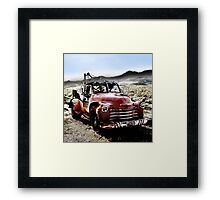 old red tow truck, route 66, cool springs, arizona Framed Print