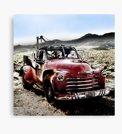 old red tow truck, route 66, cool springs, arizona Canvas Print