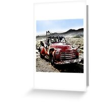old red tow truck, route 66, cool springs, arizona Greeting Card