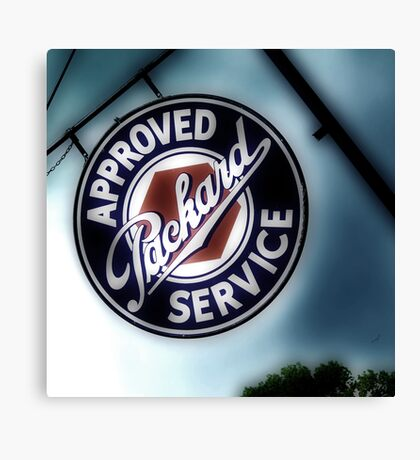 packard service, route 66, afton, oklahoma Canvas Print