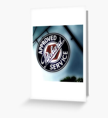 packard service, route 66, afton, oklahoma Greeting Card