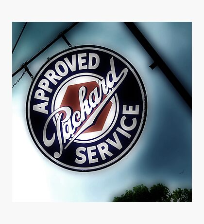 packard service, route 66, afton, oklahoma Photographic Print