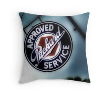 packard service, route 66, afton, oklahoma Throw Pillow