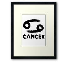 Cancer (Black) Framed Print