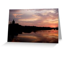 Sunset on the Arno (Number 2) Greeting Card