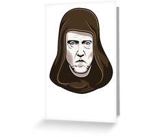 Walken on the Dark Side - Christopher Walken Greeting Card