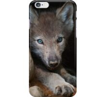 Timber Wolf Pup in Den iPhone Case/Skin