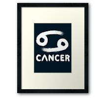 Cancer (White) Framed Print