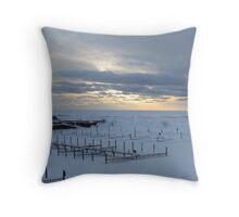 Kincardine Docks Throw Pillow