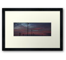 0987 - HDR Panorama - Sunset Framed Print