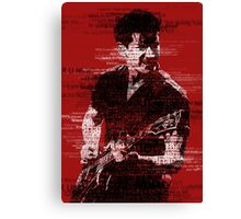 Alex Turner Typography (Red) Canvas Print