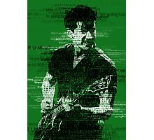 Alex Turner Typography (Green) Photographic Print