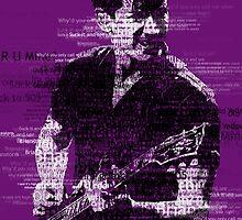 Alex Turner Typography (Purple) by samturner