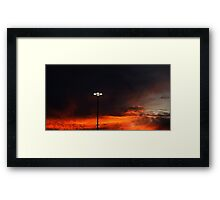 1013 - HDR Panorama - Sunset Framed Print