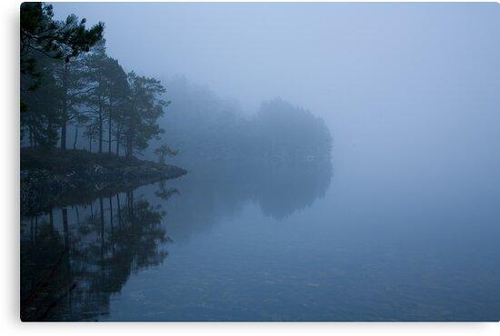 misty lake #3 by Bjørn Gjelsten