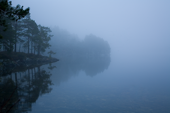 misty lake #3 by Bjørn Gjelsten