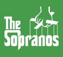 The Sopranos Logo (The Godfather mashup) (White) Baby Tee